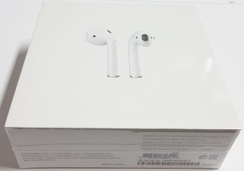 Originalverpackt Apple Airpods MMEF2ZM/A Bluetooth Headset Lightning, Lade-Case