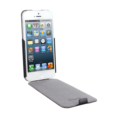 Muvit iFlip Cover Hülle für Apple iPhone 5/5S - grau