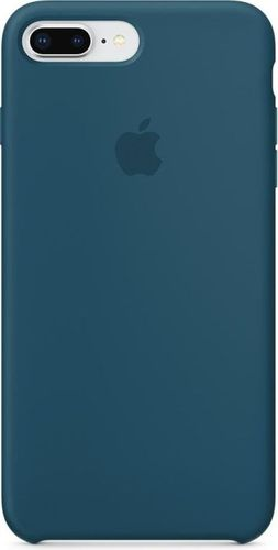 Originalverpackt Apple Silikon Mikrofaser Cover Hülle für iPhone 8+ Plus / 7+ - cosmos blau