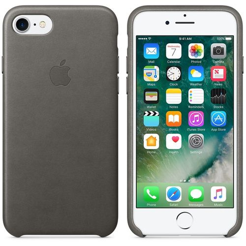 Apple MMY12ZM/A echt Leder Cover für iPhone 7/8 in Sturmgrau