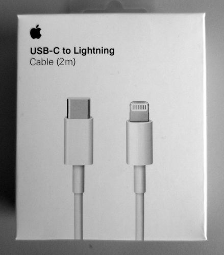 Originalverpackt Apple A1702 MKQ42, USB-C- auf Lightning, Ladekabel 2m - weiss