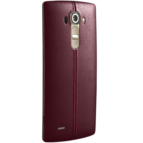 LG CPR-110 Leather Cover Case for LG G4 H815 - Red