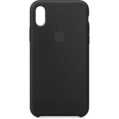 Originalverpackt MQT12ZM/A Apple Silikon Mikrofaser Cover Hülle für iPhone X - schwarz