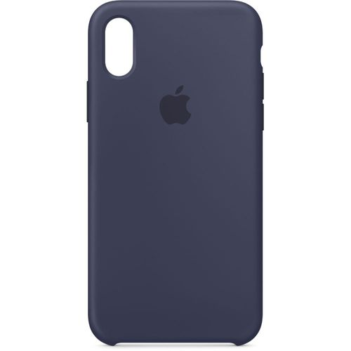 Originalverpackt MQT32ZM/A Apple Silikon Mikrofaser Cover Hülle für iPhone X - midnight blau