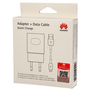 Blister Huawei Original AP32 Reiseadapter Strom Ladegerät + USB-Micro Data Kabel - weiss