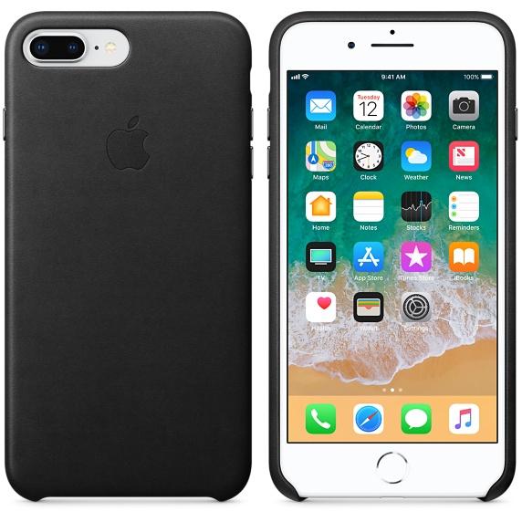 Originalverpackung Apple echt Leder Cover für iPhone 7/8+ Plus in Schwarz