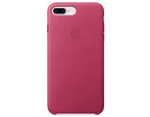 Originalverpackung Apple echt Leder Cover für iPhone 7/8+ Plus in fuchsia pink