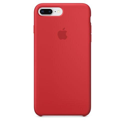Originalverpackt Apple Silikon Mikrofaser Cover Hülle für iPhone 8+ Plus / 7+ - rot