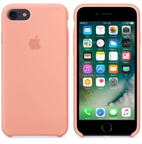 Originalverpackt Apple Silikon Mikrofaser Cover Hülle für iPhone 8+ Plus / 7+ - rosa flamingo