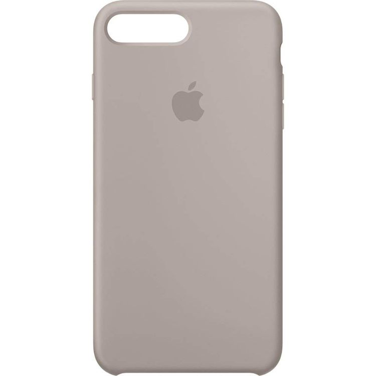 Originalverpackt Apple Silikon Mikrofaser Cover Hülle für iPhone 8+ Plus / 7+ - kieselgrau