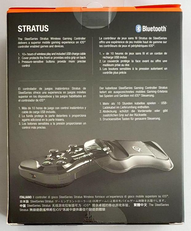Steel Series Stratus Gamepad Joystick wireless iOS7 MultiPlayer - schwarz