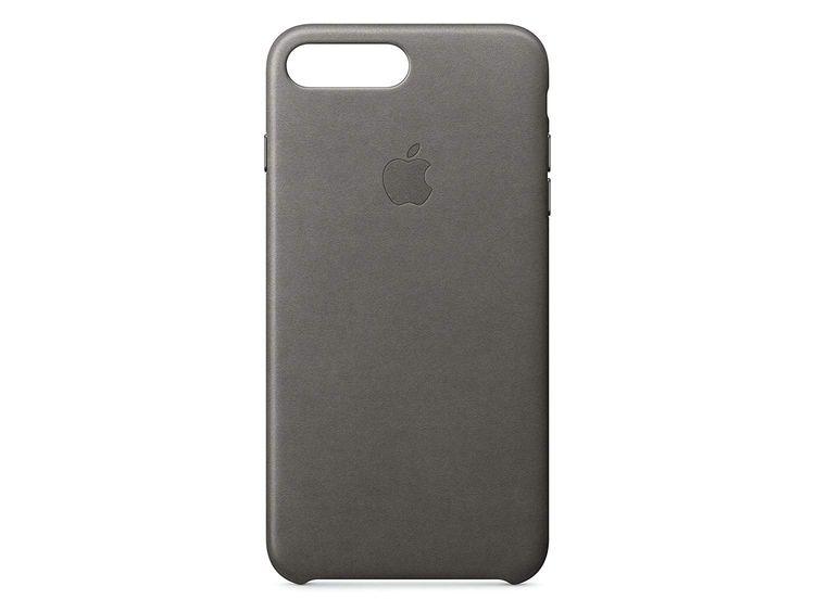 Originalverpackung Apple echt Leder Cover für iPhone 7/8+ Plus in storm grau