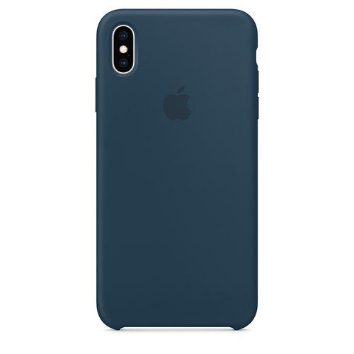 Originalverpackung Apple Silikon Mikrofaser Cover Hülle für iPhone XS - Pazifik grün