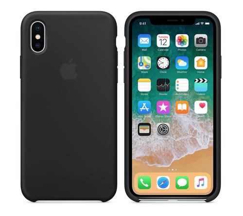Verpackung beschädigt MQT12ZM/A Apple Silikon Mikrofaser Cover Hülle für iPhone X - schwarz