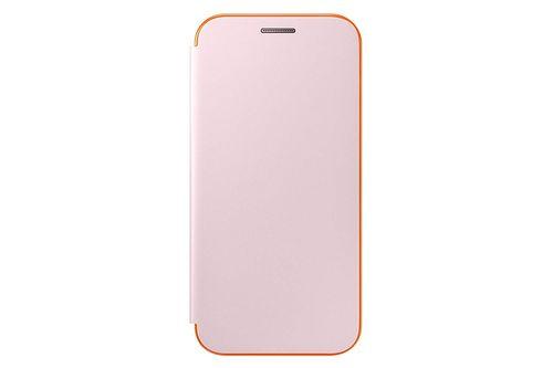 Samsung EF-FA320PPE Neon Flip Cover Hülle Pink für Galaxy A3 2017