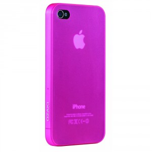Ozaki iCoat Hard Cover Hülle 0.4mm für iPhone 4 / iPhone 4S - pink