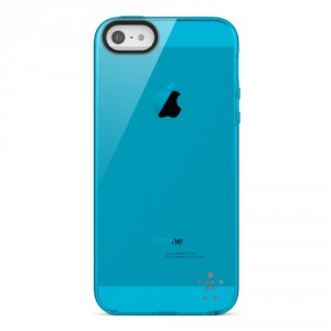 Belkin Grip Sheer TPU Cover Hülle für iPhone SE 5/5S - Blau