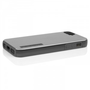 Incipio IPH-876 Dual PRO Shine protection Hülle Cover Case für iPhone 5/5S - Silber/Grau
