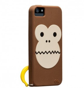 Case-mate Bubbles Monkey Hülle Cover iPhone 5/5S Braun