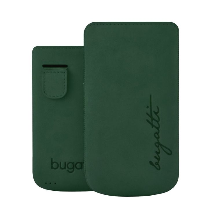 Bugatti Perfect Velvety Ledertasche Cover Hülle für iPhone 4/4S - Cypress Grün