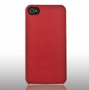 Skech  Slim  Ultra Thin Snap On Cover Hülle red iPhone 4 / 4S