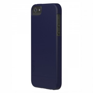 Skech Hard-Rubber 2teilig Cover Hülle iPhone SE 5/5S blau