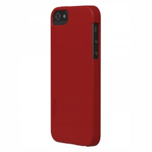 Skech Hard-Rubber 2teilig Cover Hülle iPhone SE 5/5S Rot