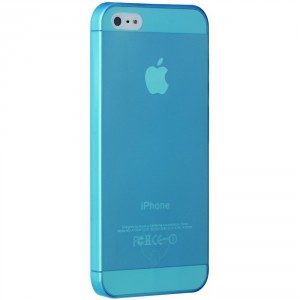 Ozaki O!Coat Jelly slim 0,3 mm Cover Hülle iPhone 5/5S Blau