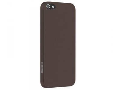 Ozaki O!Coat OC530BR Solid slim 0,3 mm Cover Hülle iPhone 5/5S Dunkel Braun