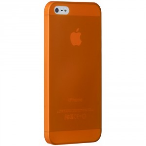Ozaki OC533OG O!Coat Jelly slim 0,3 mm Cover Hülle iPhone SE 5/5S Orange