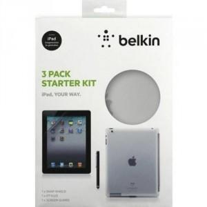 Belkin F5Z0361cw Starter Kit 3-teilig Das neue iPad 3G & 4G transparent
