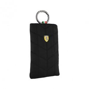 Ferrari Handy Beuteltasche Universal 12,5 x 8 cm in schwarz