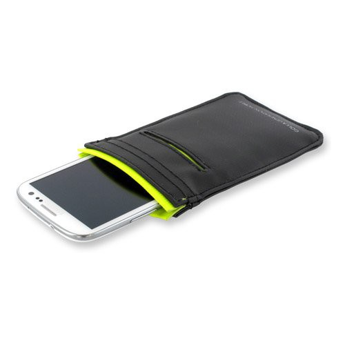 Golla JOE CG1076 Kunstleder Tasche Sleeve 135 x 70 mm für Smartphone - schwarz/gelb