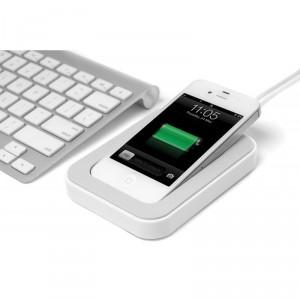 Bluelounge Saidoka Lightning Anti-Rutsch Ladestation iPhone 5/5S in weiss