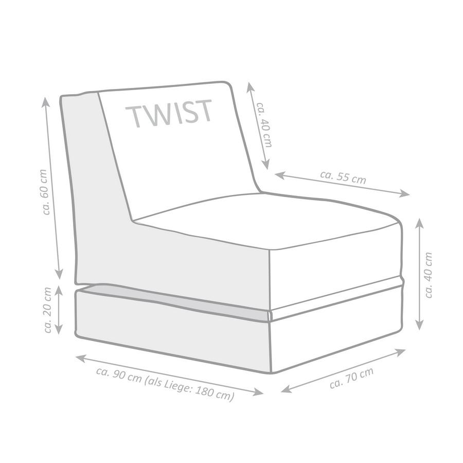 Sitzsack Twist Scuba Anthrazit Ebay