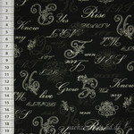 Quilt Gate Rose Collection Kalligraphie schwarz