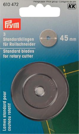 Prym 3 Standardklingen für Rollschneider 45 mm
