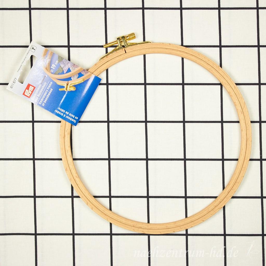 Prym Stickrahmen aus Buchenholz 19 cm Zubehör Stickzubehör Stickrahmen