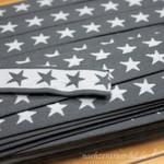 Gummiband Sterne, 2cm breit, grau
