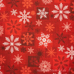 Holiday Magic Schneeflocken rot 001
