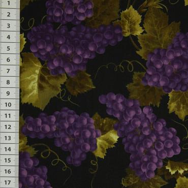 Timeless Treasures Weintrauben lila schwarz
