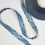 Webband Lizzy blau-ecru 15mm