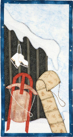 Winter Whimsy Sleds inklusive Knöpfe – Bild 1