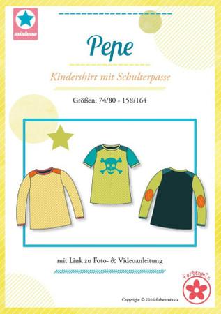 Pepe – Kindershirt mit Schulterpasse (Gr. 74-164) – Bild 1