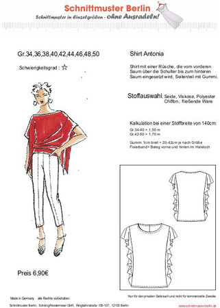Shirt ANTONIA (Gr. 34-50) – Bild 1