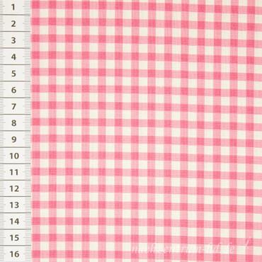 Makower Basic Gingham Vichykaro pink