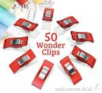 50 Stoffklammern Wonder Clips rot