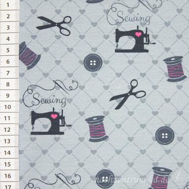 Sommer-Sweat Lian Sewing grau