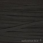 Flache Kordel mit Glanz, 8mm, schwarz