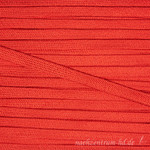 Flache Kordel mit Glanz, 8mm, rot 001